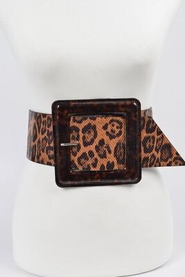 Plus Niki Wide Leopard Belt