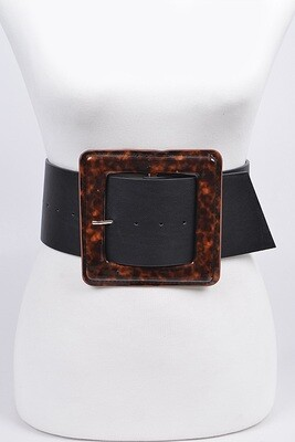 """""""First Date"""" Wide Leather Belt"""