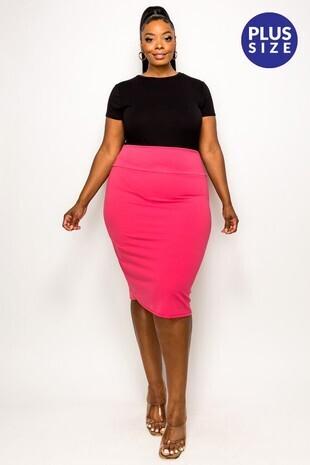 Plus Basic Pencil Skirt