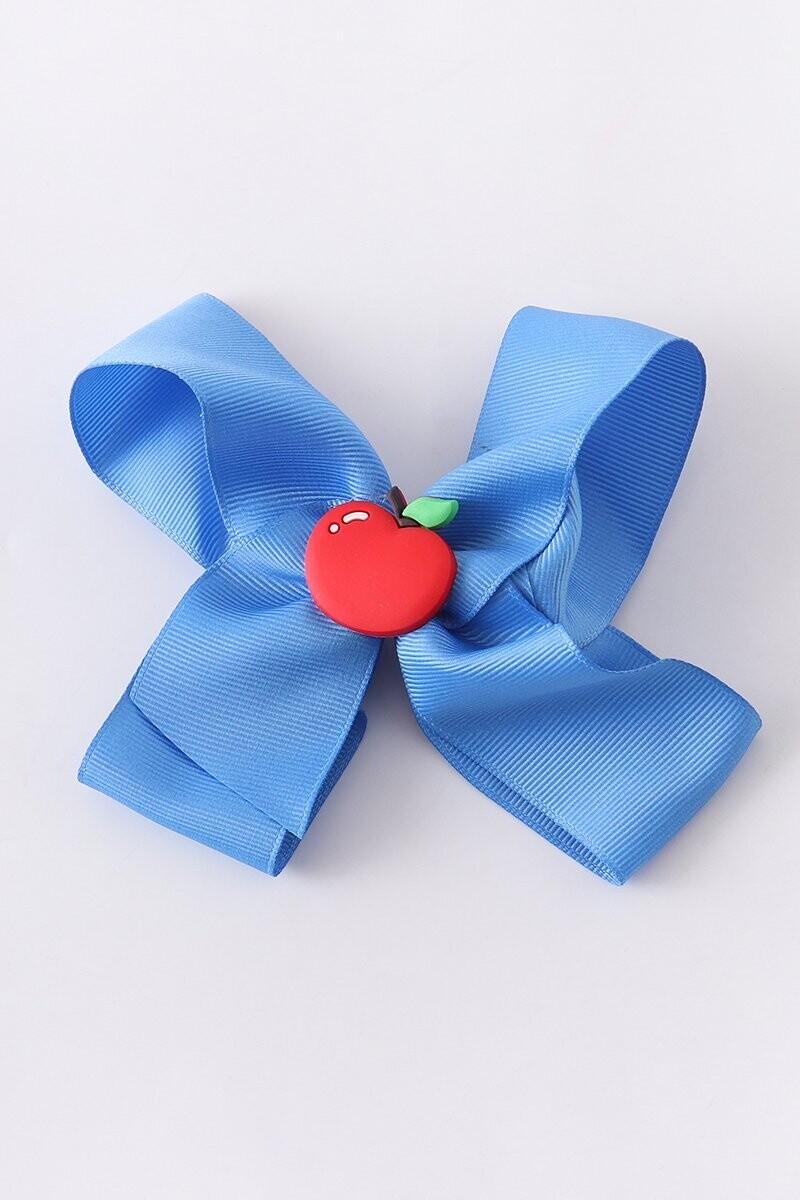 Girls Apple Hair Bow