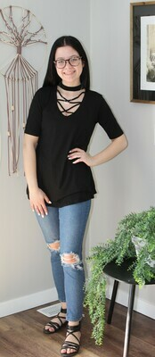 Criss Cross Neck Tunic