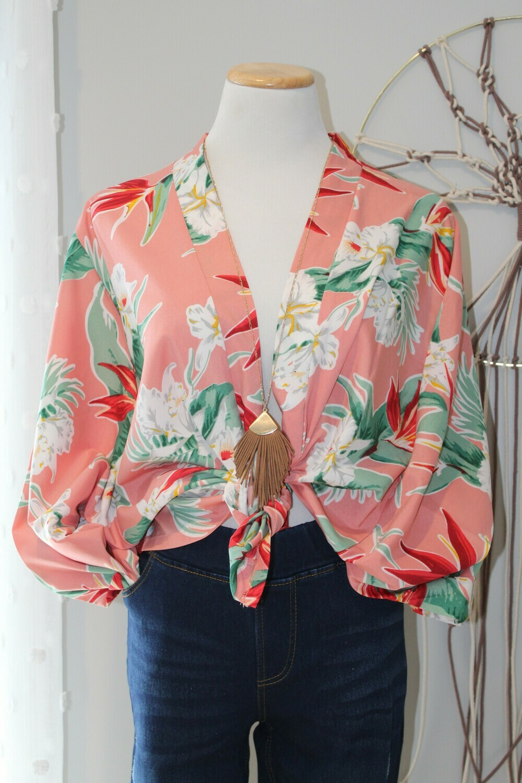 DEIL LS Floral Kimono
