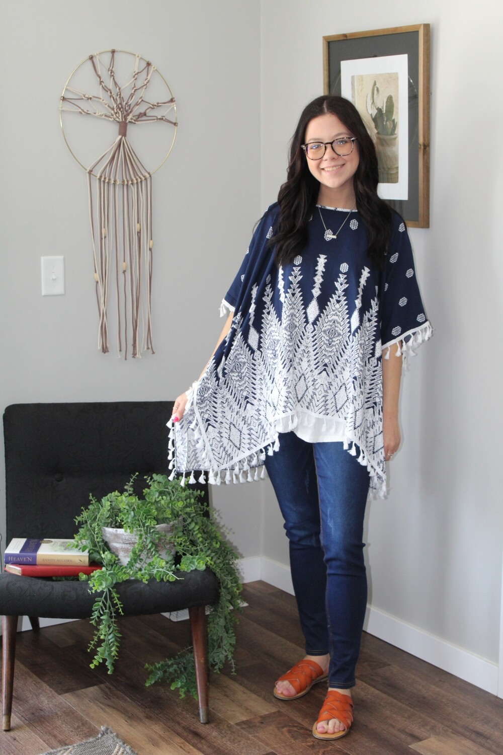 Tribal Fringed Pullover