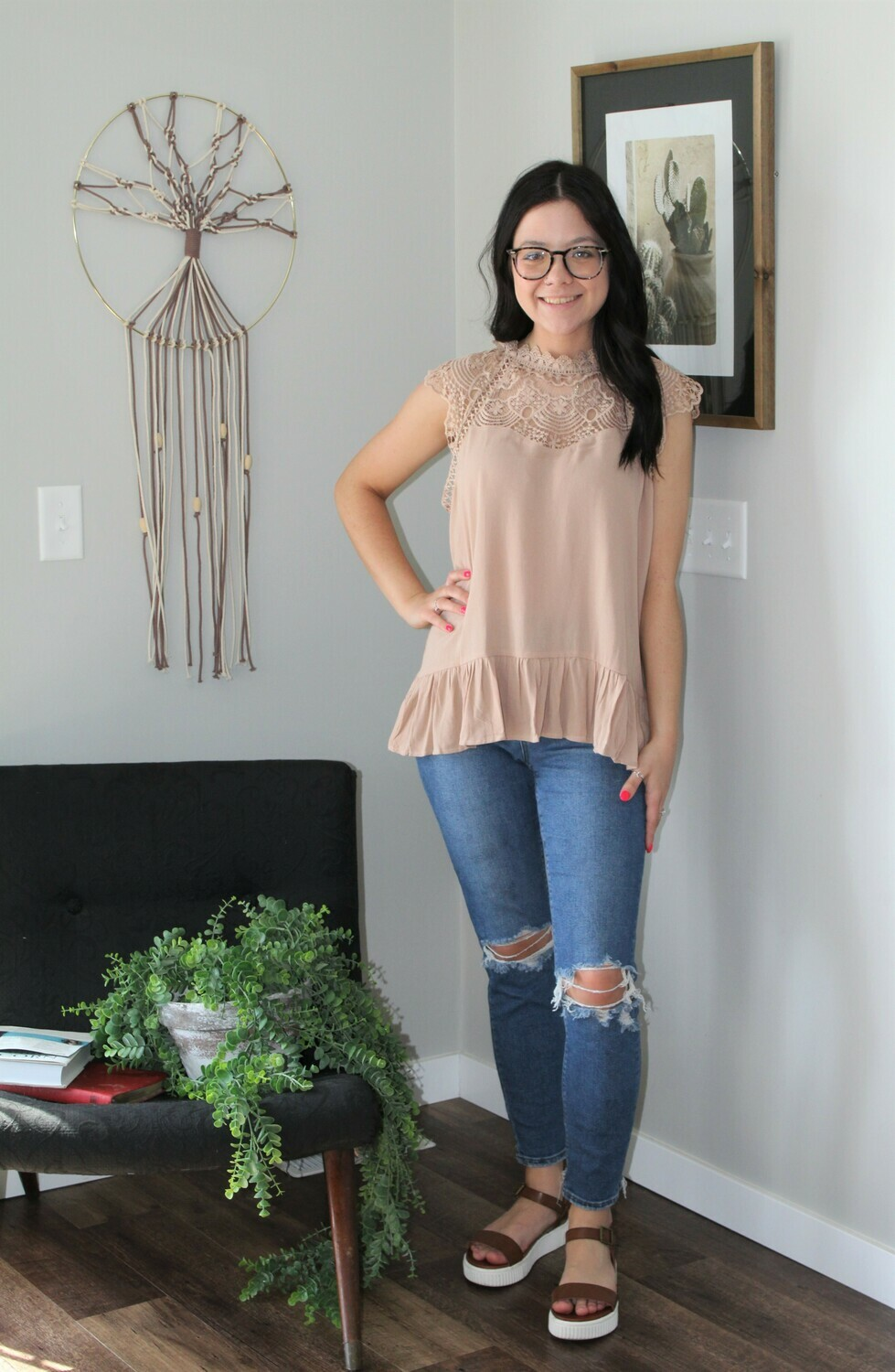 Umgee Floral Lace Top