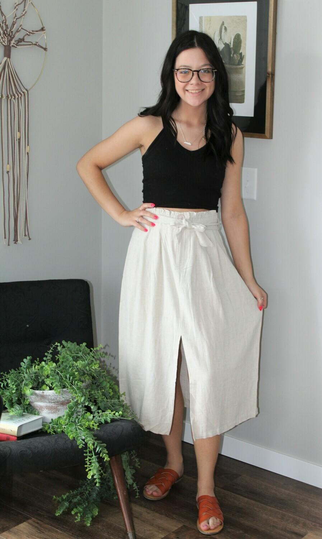 Umgee HW Midi Skirt