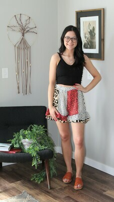 Umgee Animal Print Shorts