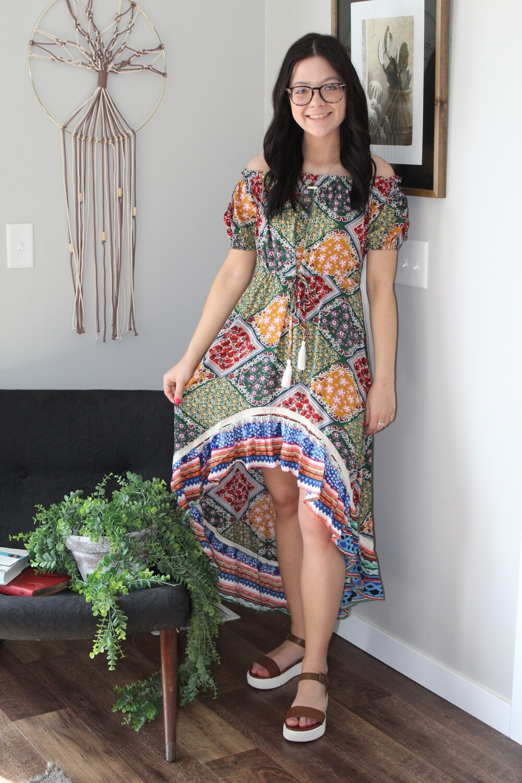 Umgee Scarf Maxi Dress