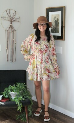 Umgee Sheer Floral Dress