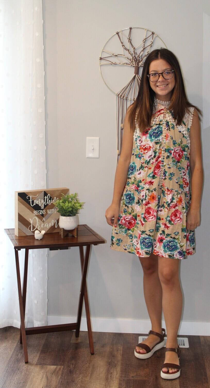 Umgee SL Floral Dress