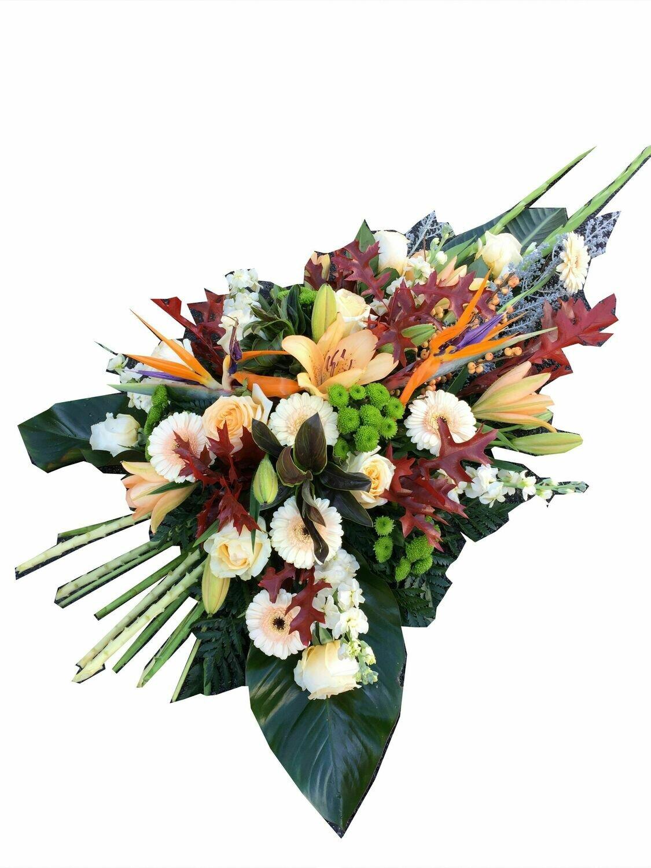 Gerbe de fleurs piquée