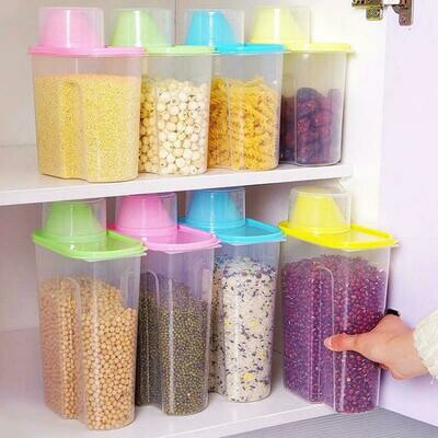 Dry Food Storage Containers Cereal Jars  Locked Lid For Rice Dispenser, Coffee, Pet Food 2.5L