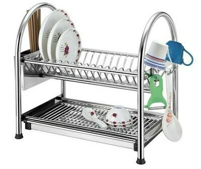 2 Tier Stainless Steel Dish Rack