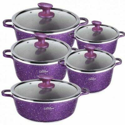 10 Pcs Purple Dessini  Cooking Set