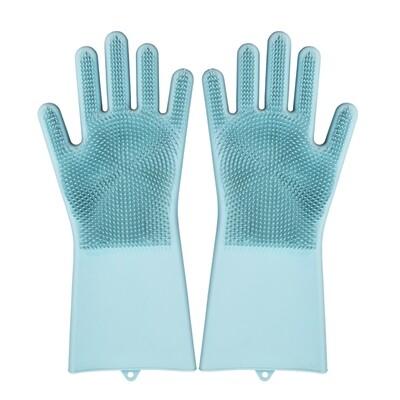 Heat Resistant Custom Waterproof Silicone Dishwashing Kitchen Gloves