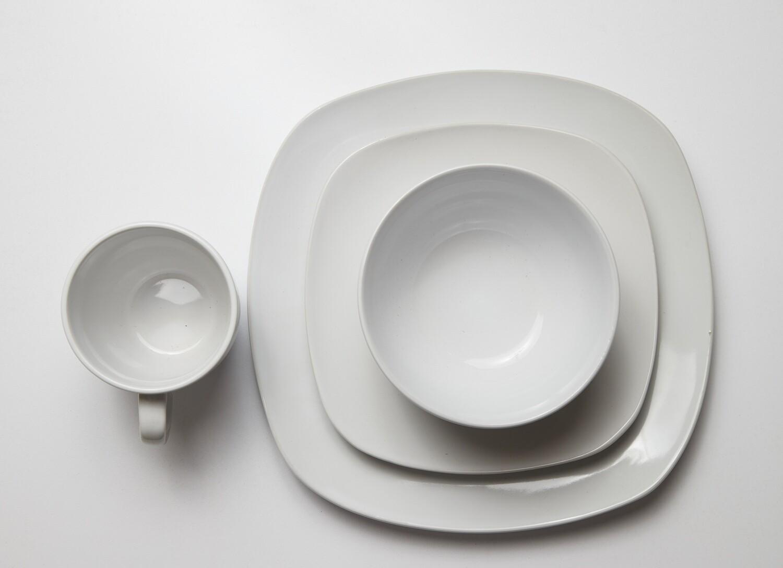 Lotus 16PC Dinner Set Light white