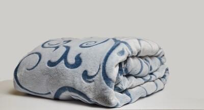 ESS Fleece Blanket blue pattern 150*180CM