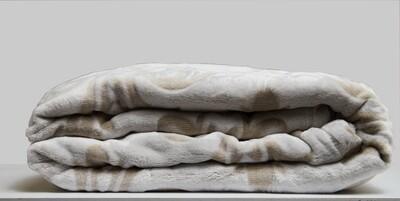 ESS Fleece Blanket light brown pattern 150*180CM