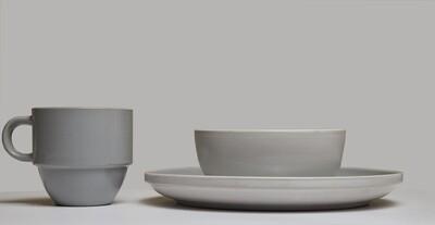 Lotus 12PC Dinner Grey #1204