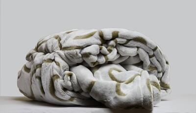 ESS Fleece Blanket dark green pattern 150*180CM
