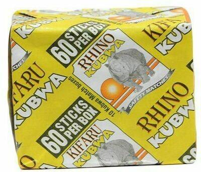 Rhino Kubwa Matchbox 10'S