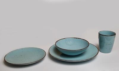 Lotus 16PC Dinner Set Mist Blue