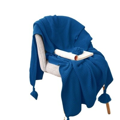 High Quality Knitted Blanket With Tassels Throw Blanket