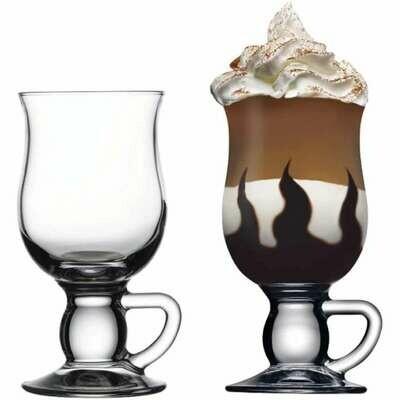 2Pc Irish Coffee Glass with Handle