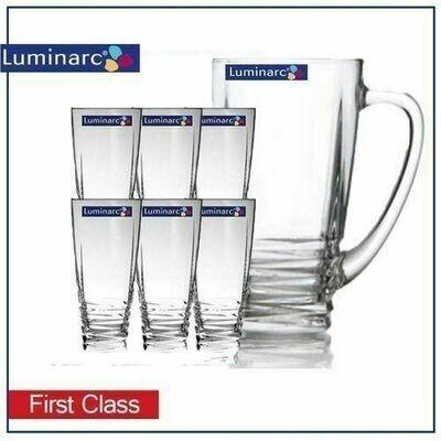 Luminarc 7 piece water Set -first Class