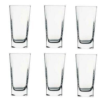 Pasabahce carre 6 Water glasses 6pc set