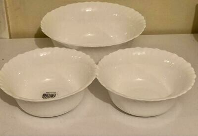 Redberry 3 piece set bowls 1 large serving bowl and 2 small salad bowls