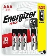 AAA Energiser 3+1 Battery