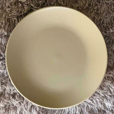 Set of 4 Light Grey 10'5 Dinner Plate