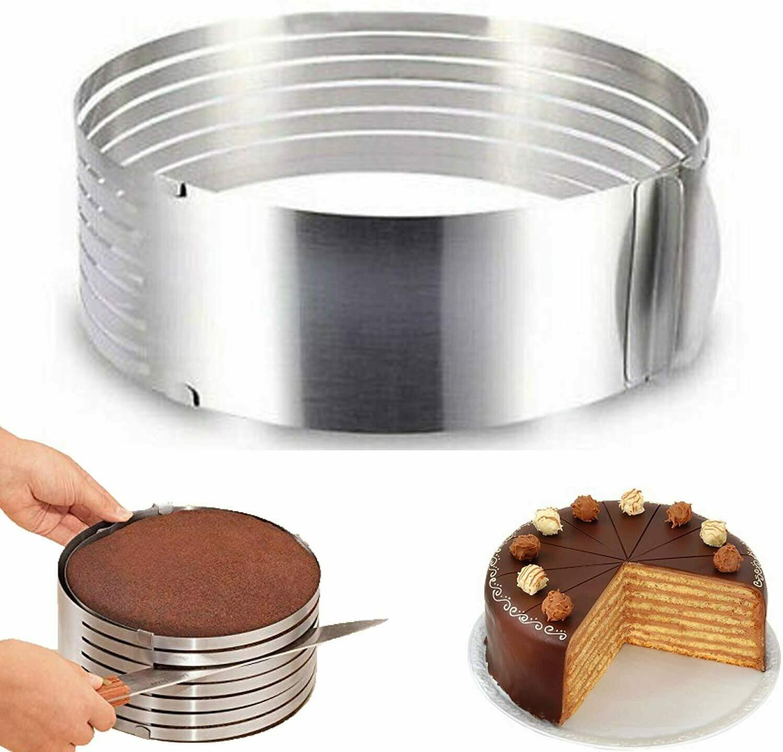 Cake Cutter Slicer Adjustable Layered Stainless Steel Cake Leveler Slicer Cutter Mold Cake Tools Mousse Mould Slicing Cutter