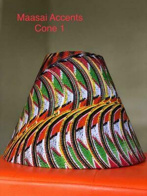 Maasai art themed themed lamp shades by Maasai accents  - cone shaped