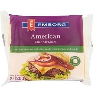 Emborg Processed American Cheese Sliced 200 g