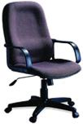 CONCEPT H/B FABRIC OFFICE CHAIR GREY #6002
