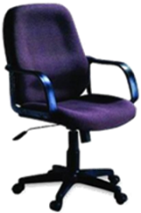 CONCEPT L/B FABRIC OFFICE CHAIR BLUE #6001