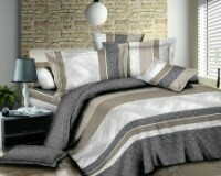 Home $ Living 4PC Winter Queen Flat Ser #HL0063WINTR 2 flat Bed sheets, 2 pillow cases