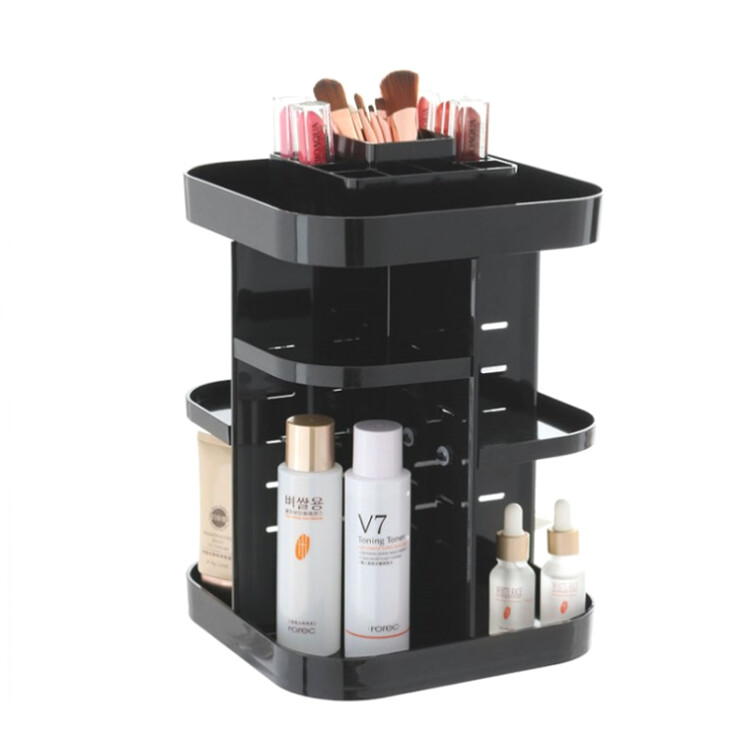 Transparent Makeup Case 360 Rotating Cosmetic Organizer  size 23*23*32cm Acrylic. amazon hot selling
