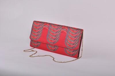 Maasai Accents®, Kitenkela abstract beadwork print, Long Clutch #MAS04-04