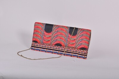 Maasai Accents®, Kitenkela beadwork abstract pr.int Long Clutch #MAS04-02