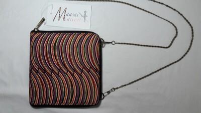 Maasai Accents®, Emerit Abstract beadwork print, Square Sling bag Polyester Canvas, Abstarct Enkutoti beadwork print, Square Sling bag