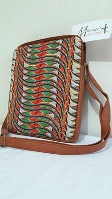 Maasai Accents®, Abstract Shompole beadwork print, on Polyester Canvas, IPad bag