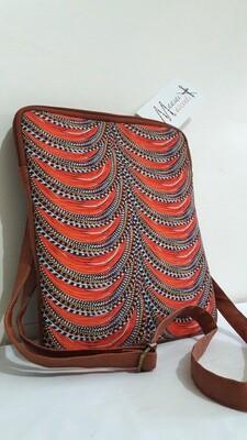Maasai Accents®, Kitenkela beadwork print, lPad bag. Kitenkela beadwork polyester canvas print IPad bag