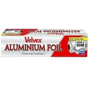 Velvex Catering Aluminium Foil 45 cm x 90 m