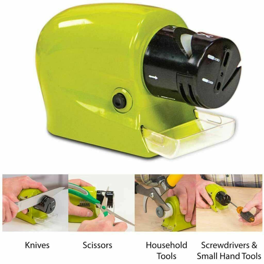 Swifty Sharp-motorised Knife Sharpener for knives, scissors, screw divers and household tools