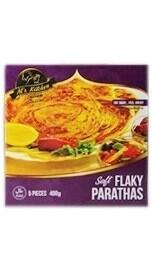 Al's Kitchen Soft Flaky Parathas 400 g 5 Pieces