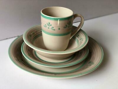 Ceramic dinner set 16 piece with 4bowls,4sideplates, 4mugs, 4dinner plates -k13