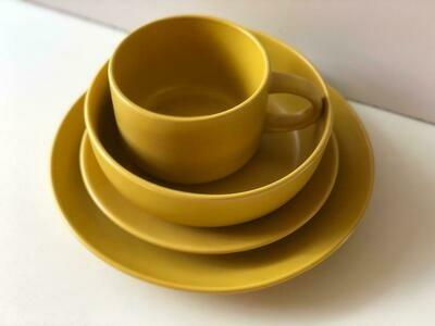 Ceramic dinner set 16 piece with 4bowls,4sideplates,4soup mug,4dinner plates -K2