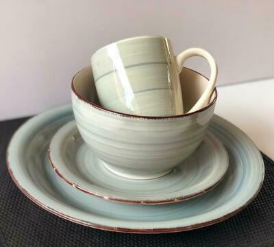 Ceramic dinner set 16 piece with 4bowls,4sideplates, 4mugs, 4dinner plates -k16 -K15